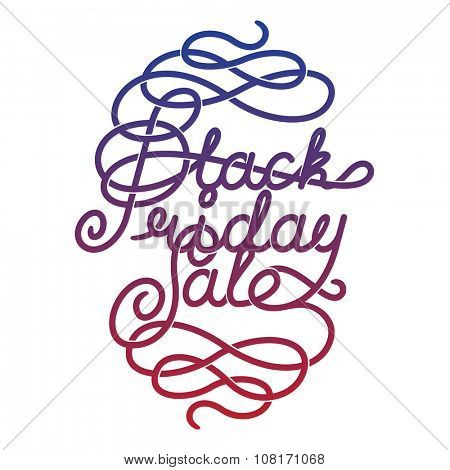 Black Friday Sale lettering. letters with decoration elements