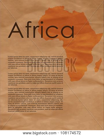 Africa Abstract Map