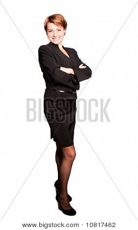 Beautiful businesswoman with her arms crossed