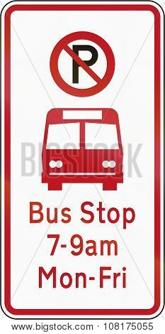 New Zealand Road Sign - Bus Stop