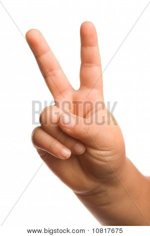 Victory Or Peace Hand Gesture