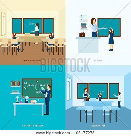 School Education Concept  Set