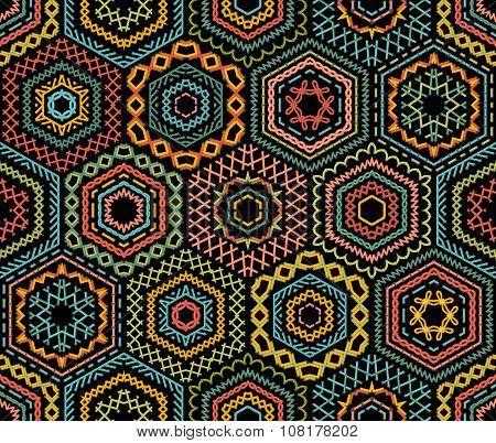 Embroidery Seamless Pattern.