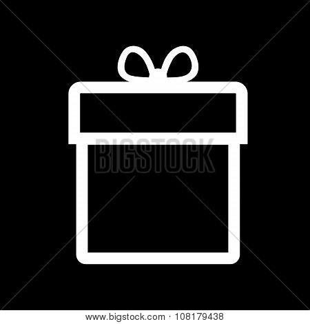 Gift box icon. Present symbol. Flat.