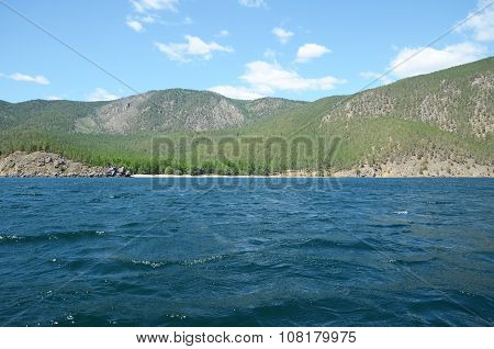 The Picturesque Coastline Of The Western Coast Of Lake Baikal