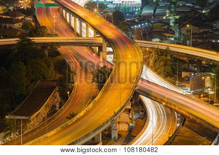 Long exposure, Interchanged highway
