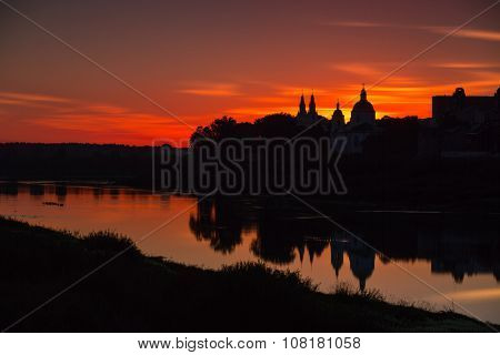 silhouettes of old Polatsk (Belarus)