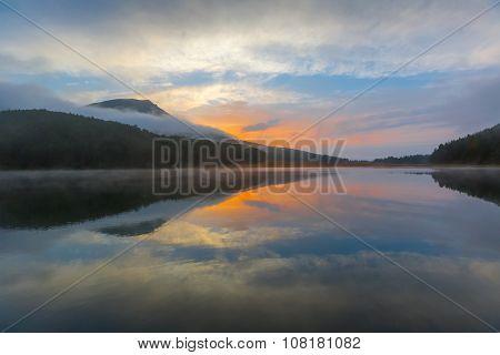 Evening at mountain lake
