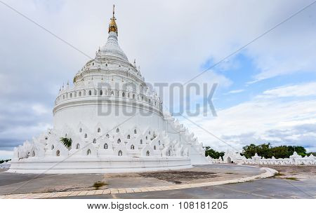 The white pagoda of Hsinbyume (Mya Thein Dan pagoda ) paya temple Mingun Mandalay - Myanmar