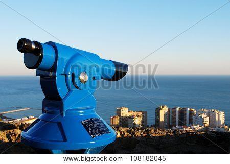 Telescope overlooking Malaga.