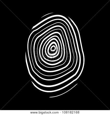 The fingerprint icon. Fingerprint symbol . Flat