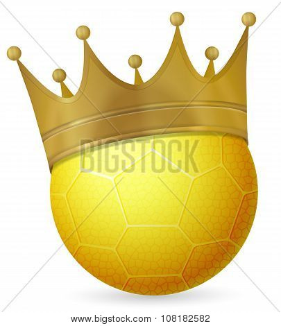 Handball Ball With Crown