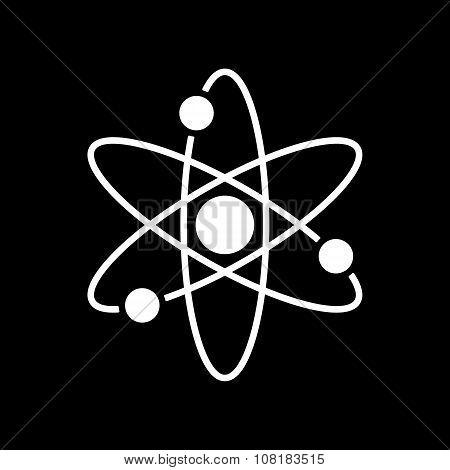 The atom icon. Atom symbol. Flat