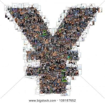 Letter Z photomosaic made of business photos of people. All the other letters of the ABC can be found in my protfolio - use the keyword photomosaic!only 10 models were used who's MRs are all attached.
