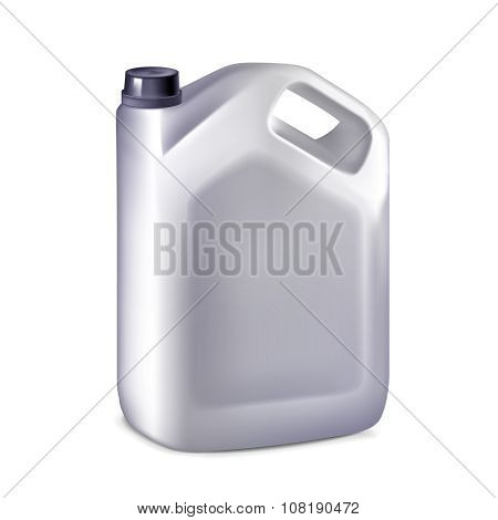 Plastic canister isolated on white background, vector