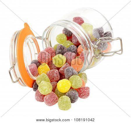 Jar Of Fruit Gum Candy