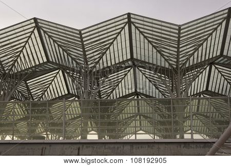 Roofing Detail Of Oriente Station In Lisbon