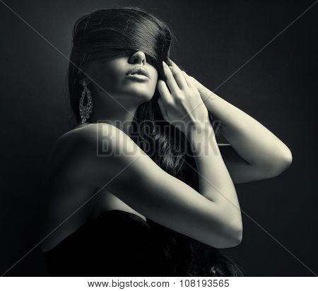 woman with luxurious hair