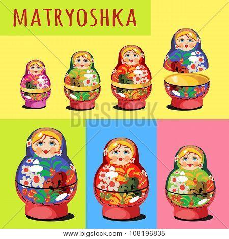 Set of matryoshka, Russian folk toy
