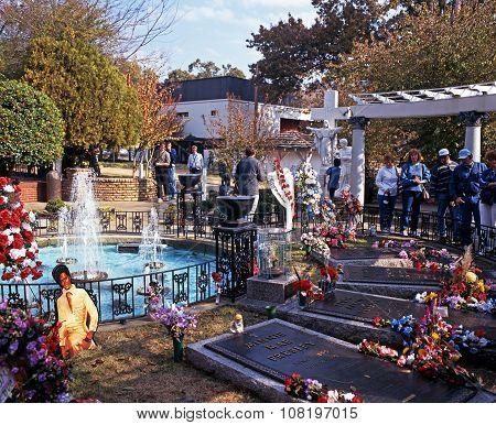 Graceland memorial garden, Memphis.