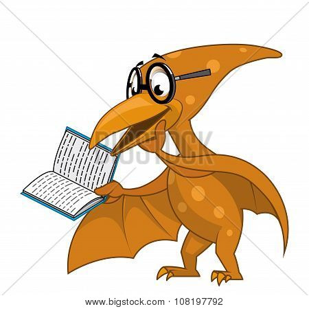 Pterodactyl Reading A Book