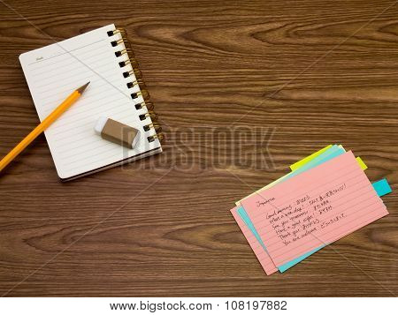 Japanese; Learning New Language Writing Words On The Notebook