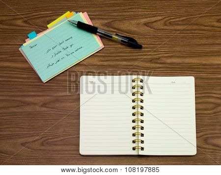 Persian; Learning New Language Writing Words On The Notebook