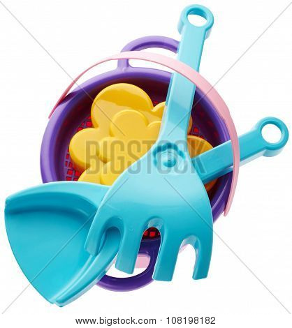 Children's Bucket, Spade And Rake