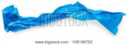 Crumpled Blue Adhesive Tape