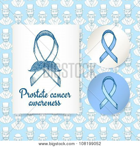 Sketch Prostate Cancer Poster And Lables