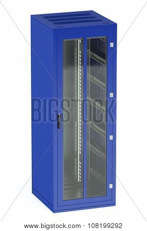 Blue Server Rack