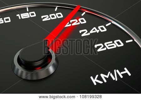 Speedometer Closeup