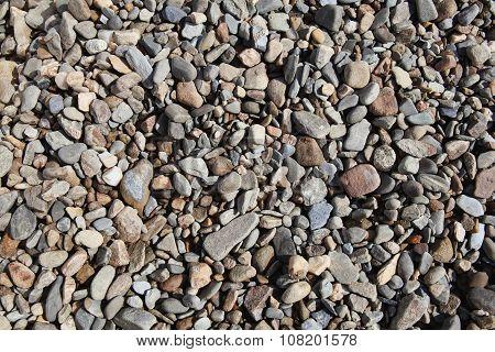 Background of rock pebble stones