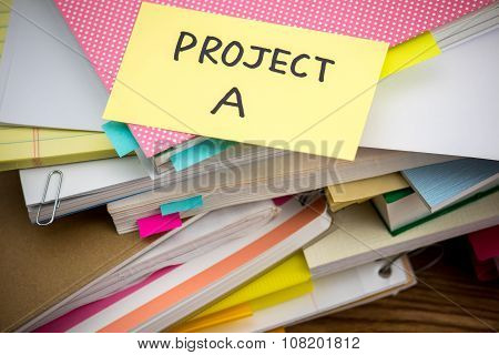 Project; The Pile Of Business Documents On The Desk