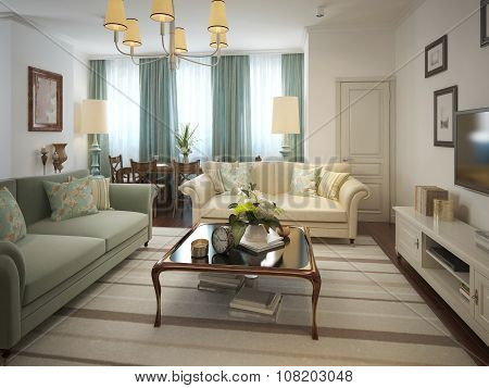 Living Room Classic Style