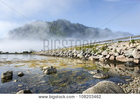 Gimsoystraumen Bridge, On Lofoten Islands,