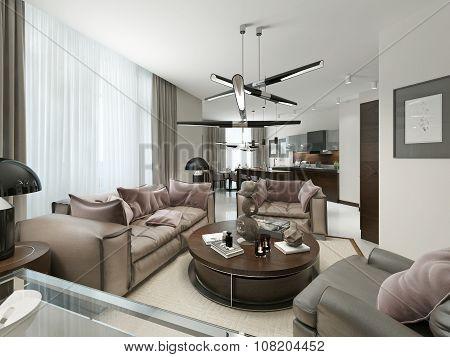 Room Studio In A Modern Design.