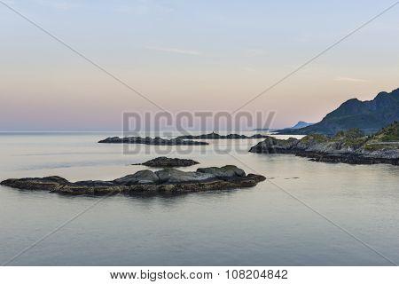 Sundown Over Lofoten Islands, Norway