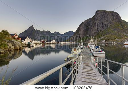 A Small Fishing Port In The Hamnoy, Lofoten Islands
