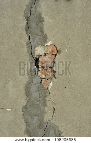 Texture of the wall.