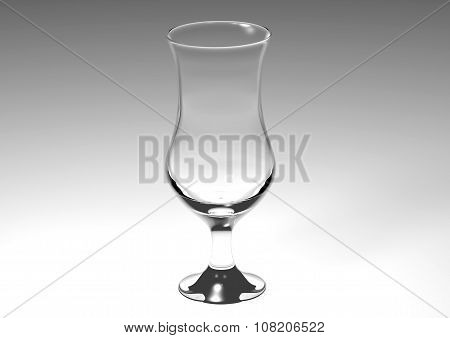 glass bowl illustrated and recorded with spot light on white background