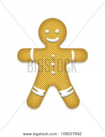 Gingerbread Man. Vector illustration.