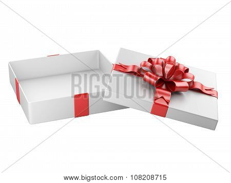 Opened Gift Box Blank Gift Tag