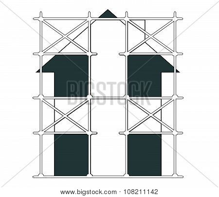 Vector Image Of Scaffolding