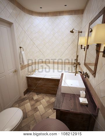 Bathroom In Clasic Design