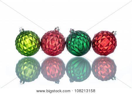 Colorful And Ornate Christmas Ball Reflection