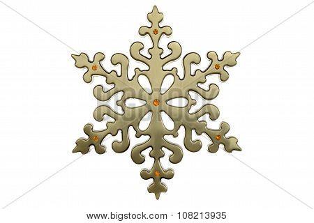 brass christmas snowflake