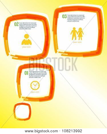 Template-page-layout-leaflets-effect-paint-brush
