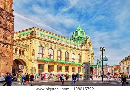Prague,czech Republic- September 13, 2015: Municipal House ( Smetana Hall)- A  Celebrate Concert Ven