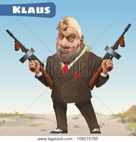 Character bandit in Wild West